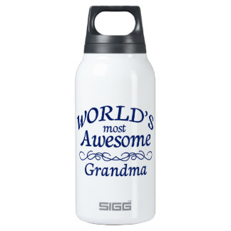 World's Most Awesome Grandma Insulated Water Bottle