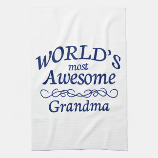 World's Most Awesome Grandma Kitchen Towel