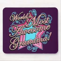 Worlds Most Awesome Grandma Mouse Pad