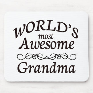 World's Most Awesome Grandma Mouse Pad