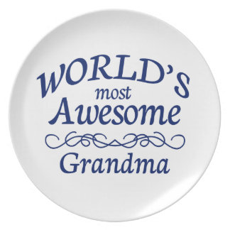 World's Most Awesome Grandma Plate