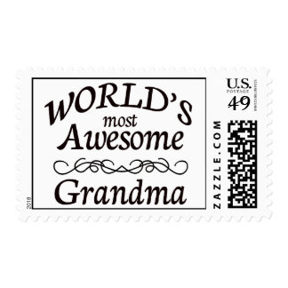 World's Most Awesome Grandma Postage Stamp