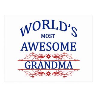 World's Most Awesome Grandma Postcard