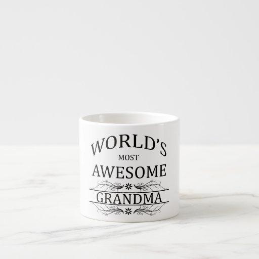 World's Most Awesome Grandma Espresso Mugs