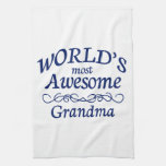 World's Most Awesome Grandma Towel