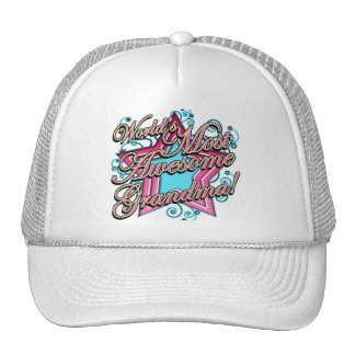 Worlds Most Awesome Grandma Trucker Hat