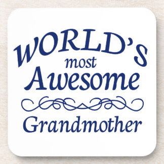 World's Most Awesome Grandmother Beverage Coaster