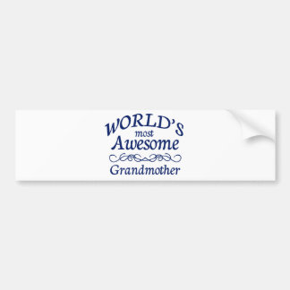 World's Most Awesome Grandmother Bumper Sticker