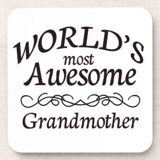 World's Most Awesome Grandmother Coaster