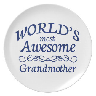 World's Most Awesome Grandmother Dinner Plate