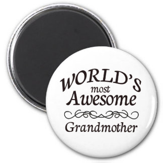 World's Most Awesome Grandmother Magnet