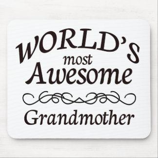 World's Most Awesome Grandmother Mouse Pad