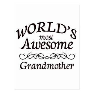 World's Most Awesome Grandmother Postcard
