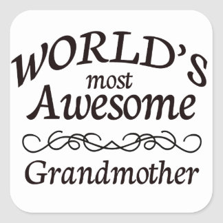World's Most Awesome Grandmother Square Sticker