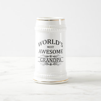 World's Most Awesome Grandpa Beer Stein