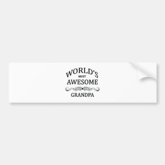 World's Most Awesome Grandpa Bumper Sticker