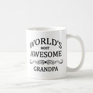 World's Most Awesome Grandpa Classic White Coffee Mug