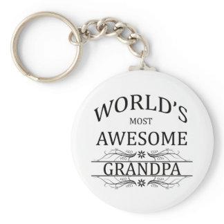 World's Most Awesome Grandpa Keychain