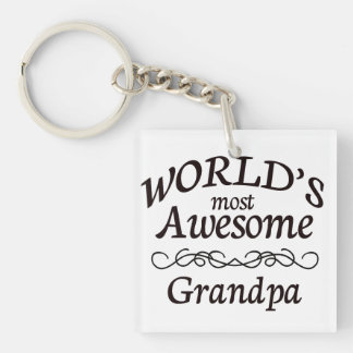World's Most Awesome Grandpa Keychain