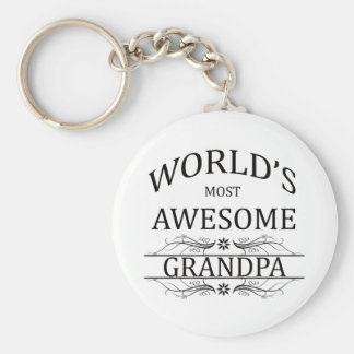 World's Most Awesome Grandpa Keychains