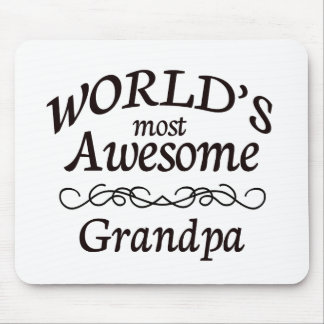 World's Most Awesome Grandpa Mouse Pad