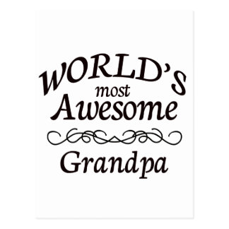 World's Most Awesome Grandpa Postcard