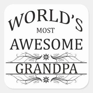 World's Most Awesome Grandpa Square Sticker