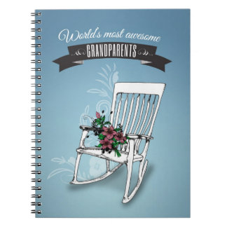 World's most awesome grandparents spiral notebook