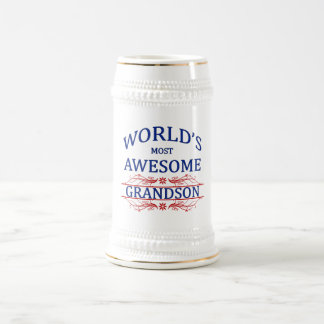 World's Most Awesome Grandson Beer Stein