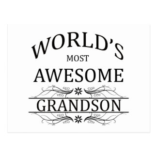 World's Most Awesome Grandson Postcard