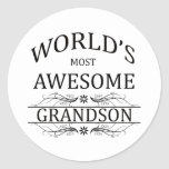 World's Most Awesome Grandson Stickers