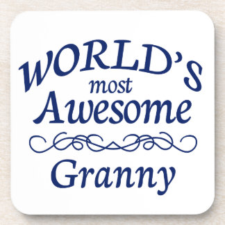 World's Most Awesome Granny Beverage Coaster