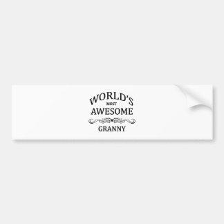World's Most Awesome Granny Bumper Sticker