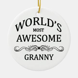 World's Most Awesome Granny Ceramic Ornament