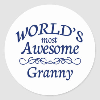 World's Most Awesome Granny Classic Round Sticker