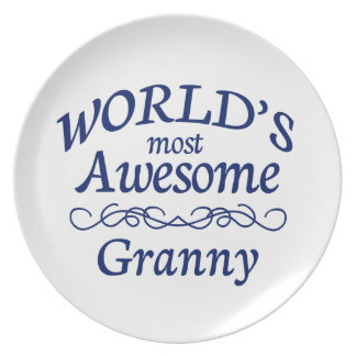 World's Most Awesome Granny Dinner Plate