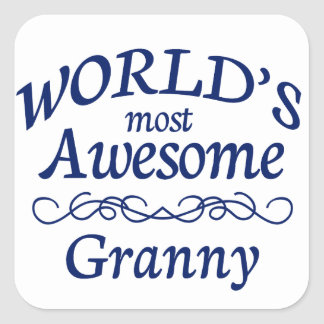 World's Most Awesome Granny Square Sticker