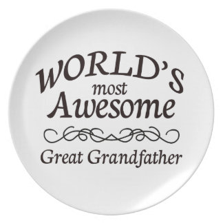 World's Most Awesome Great Grandfather Plate