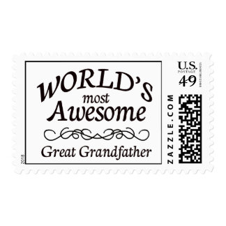 World's Most Awesome Great Grandfather Postage Stamp