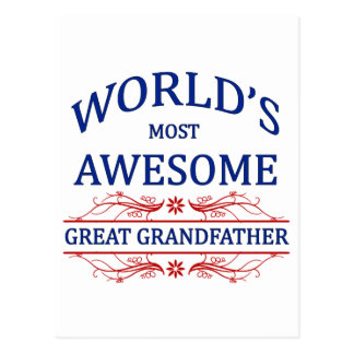 World's Most Awesome Great Grandfather Postcard