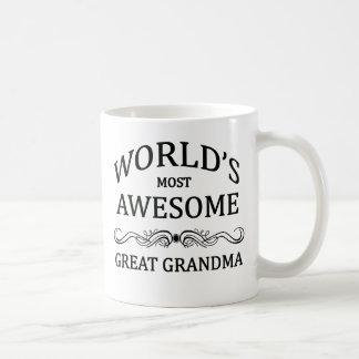 World's Most Awesome Great Grandma Coffee Mug