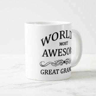 World's Most Awesome Great Grandma Giant Coffee Mug