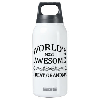 World's Most Awesome Great Grandma Insulated Water Bottle