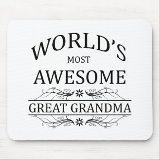 World's Most Awesome Great Grandma Mouse Pad