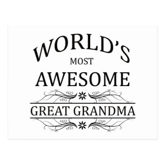 World's Most Awesome Great Grandma Postcard