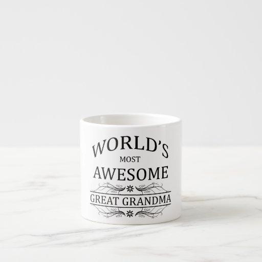 World's Most Awesome Great Grandma Espresso Mug