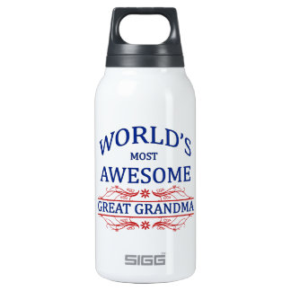 World's Most Awesome Great Grandma Thermos Water Bottle