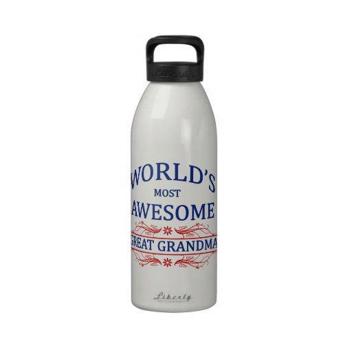 World's Most Awesome Great Grandma Drinking Bottle