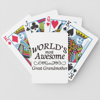 World's Most Awesome Great Grandmother Bicycle Playing Cards