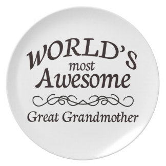 World's Most Awesome Great Grandmother Dinner Plate